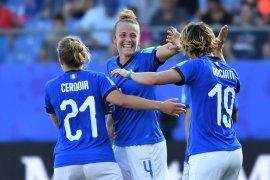 Tundukkan China 2-0, Italia lolos ke perempat final Piala Dunia Putri 2019