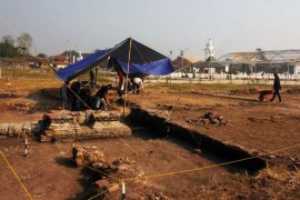 Penemuan reruntuhan candi di Banten