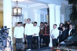 Presiden Jokowi tinggalkan Istana Merdeka