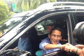 Prabowo-Sandiaga tiba di Kertanegara