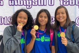 Indonesia sabet empat emas kejuaraan renang kelompok umur Kamboja