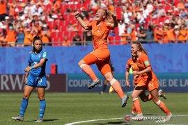 Belanda ke semifinal setelah lewati Italia 2-0 di Piala Dunia Wanita
