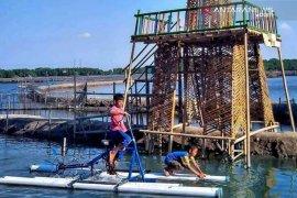 Bersepeda di Sungai Jingkem Bekasi sambil menikmati panorama hutan mangrove
