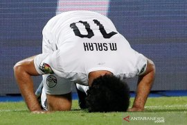 Salah mencetak gol saat Mesir bukukan rekor sempurna grup Piala Afrika