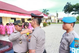 62 personel Polres Simalungun naik pangkat