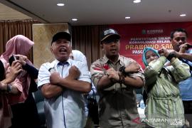 Acara pernyataan sikap relawan Prabowo-Sandi ricuh, tolak beri selamat kepada Jokowi