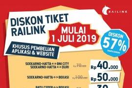KA Bandara Soekarno-Hatta gulirkan diskon harga sampai 57 persen