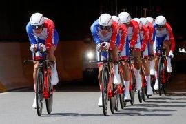 Pebalap Prancis Julian Alaphilippe menangi etape tiga Tour de France