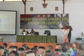 Gubernur-Kajati Gorontalo berikan pembekalan ke Satgas Yonif 713