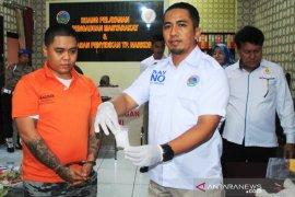 Kompol Wahyu Hidayat pimpin pemusnahan barang bukti sabu-sabu