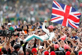 Hamilton cetak rekor enam kemenangan