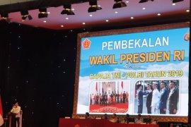 Wapres Jusuf Kalla beri pembekalan Capraja TNI-Polri Tahun 2019