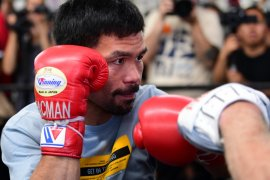 Kalahkan Thurman, Manny Pacquiao juara welter super WBA