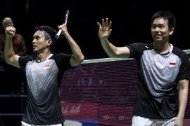 Hendra Setiawan/Mohammad Ahsan berhasil lolos ke putaran semifinal Japan Open