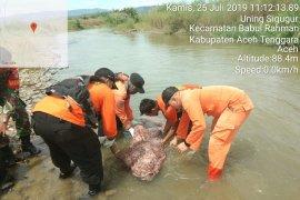 Tim SAR Kutacane temukan bocah jatuh di  Sungai Sampan