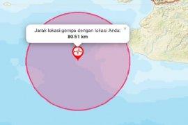 Gempa di Banten dirasakan hingga Sukabumi