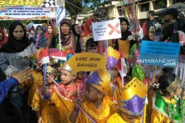 Chairansyah dan Ernawati lepas karnaval gebyar Nusantara HST 2019