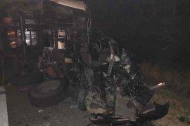 Bus hilang kendali, tiga orang meninggal dunia