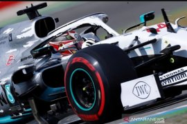 Lewis Hamilton raih pole position GP Jerman