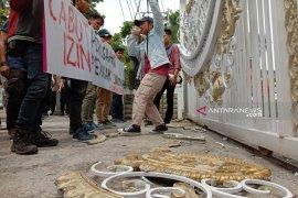 GMKI Medan dilaporkan ke polisi terkait perusakan pagar kantor gubernur