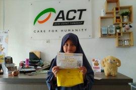 Anak usia delapan tahun donasikan tabungannya lewat ACT untuk kurban ke Palestina