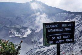 Aktivitas vulkanik menurun, PVMBG evaluasi status Tangkuban Parahu