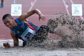 Atlet Agung Wahyudi mempertajam catatan pribadi pada lompat jangkit