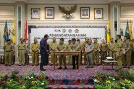 Gubernur Lampung Teken MoU dengan BPN dan Ditjen Pajak
