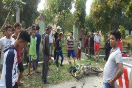 Lakalantas dua sepeda motor di Tebing Tinggi, satu orang tewas