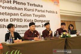 Sah, tujuh parpol raih kursi DPRD Kota Denpasar