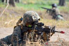 Marinir Indonesia-Amerika kolaborasi manuver gerakan maju dan Serangan