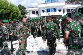 450 Satgas Yonif 713/Satyatama Gorontalo tiba di Papua