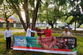 BNI syariah Banda Aceh sumbang enam ekor kurban
