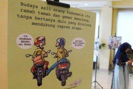 """PKS  sampaikan pesan membangun, melalui  pameran kartun """"Merdekartun"""""""