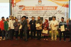 KPU Jatim tetapkan 120 calon legislator terpilih
