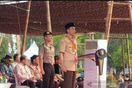 Peringatan Hari Pramuka Ke-58, Presiden Jokowi terima Lencana Tunas Kencana