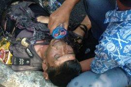 Anggota Porles Cianjur yang terbakar paling parah dirujuk ke RS Pertamina