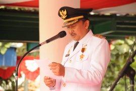 Ribuan warga Lebak ikuti upacara peringatan HUT Ke 74 Kemerdekaan RI