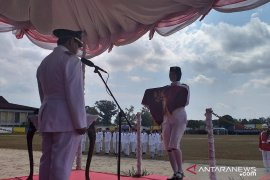 Bupati Belitung jadi inspektur upacara HUT RI Ke - 74
