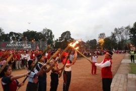 Wabup Bangli lepas ribuan peserta pawai obor HUT RI