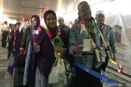 Jamaah haji kloter 1 tiba di Tanah Air