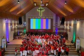Nuansa HUT Kemerdekaan RI warnai kebaktian Minggu GPdI Ekklesia Gorontalo