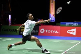 Tommy tantang Momota pada babak kedua China Open