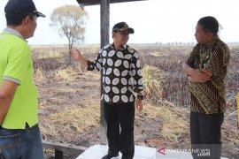 Wakil Bupati HSS tinjau kondisi SMPN 1 Daha Barat pasca kebakaran