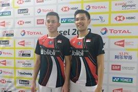 Fajar/Rian susul Ahsan/Hendra ke perempat final Kejuaraan Dunia bulutangkis