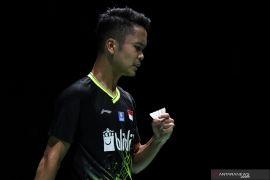 Final bulu tangkis beregu, Ginting  buat Indonesia unggul 2-1 atas Malaysia