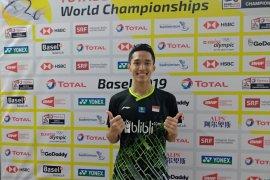 Jonatan Christie lolos perempat final Kejuaraan Dunia