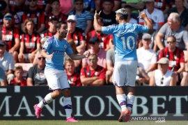 Manchester City menang  telak 3-1 di kandang Bournemouth
