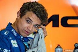 Lando  Norris menahan sakit di sesi latihan bebas GP Styria
