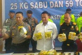 Polisi gagalkan penyelundupan narkoba bernilai miliaran rupiah